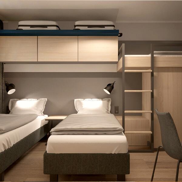 Hotelzimmereinrichtung Apartment Galeriebild