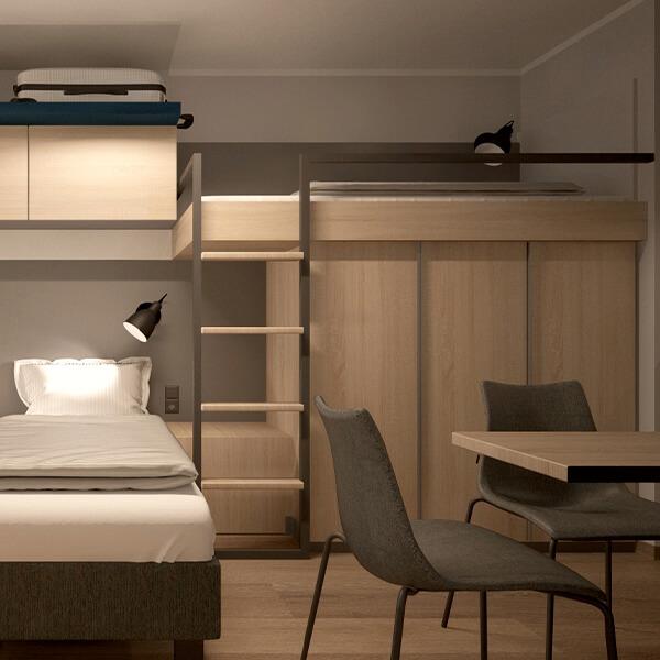 Hotelzimmereinrichtung Bildungseinrichtung Galeriebild